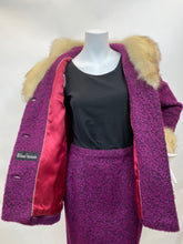 Load image into Gallery viewer, Fabulous 1967 Vintage  William Frohman Walking Suit - 100% Wool with Fox Fur Tri