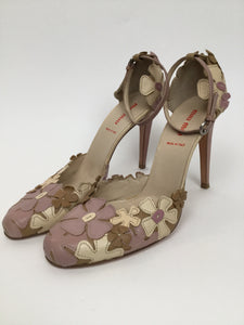 Miu Miu Pink Floral Pumps Size 9.5 - Vacation Perfect