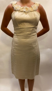 Salma Small Champagne Dress with fabulous neckline details