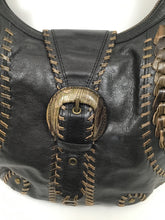 Load image into Gallery viewer, Isabella Fiore Large Brown & Taupe Hobo Shoulder Bag
