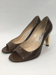 Jimmy Choo London Size 38.5 Patent Peep-toe  Pumps