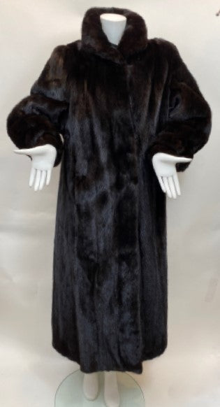 Vintage Size Medium Black  Mink  Full Length Coat