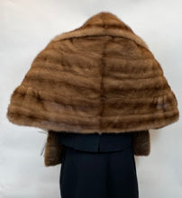 Load image into Gallery viewer, Vintage Honey Brown Mink Stole Late 1950's