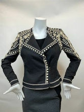 Load image into Gallery viewer, BCBGMAXAZRIA Size XS Jaixon Moto Black & Beige Jacket