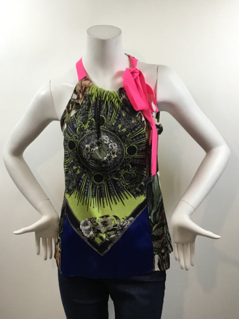 ELIE TAHARI Size S Multi-Color Silk Dress Top