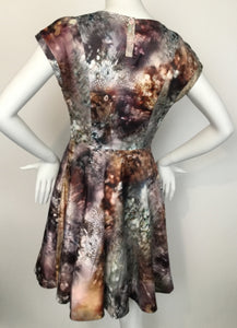 Ted Baker Size 2 Pink Print Dress