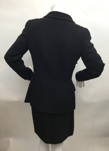 Chanel Vintage Size 42 Black Skirt Suit