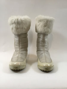 Gucci White Hysteria Snow Boots with Fur Trim - Size 35.5