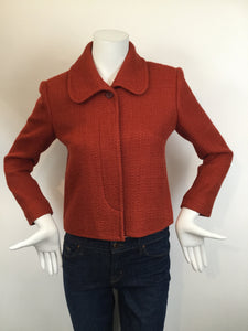 Theory Size 8 Burnt Orange Blazer