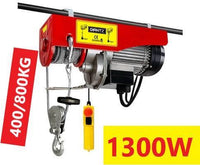 Electric Hoist Winch 1300W 400/800KG Giantz