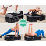 Everfit Set of 4 Areobic Step Bench Step Risers