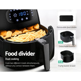 Devanti Air Fryer 8.5L LCD Digital Oil Free Deep Frying Cooker Accessories Rack