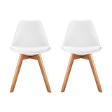 Artiss Set of 2 Padded Dining Chair - White