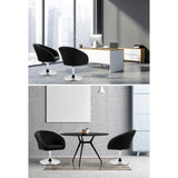 Artiss Bar Stools Accent Chairs Kitchen Bar Stool Swivel Gas Lift Leather Black