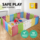 Cuddly Baby 19-Panel Plastic Baby Playpen Kids Toddler Fence