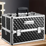Embellir Portable Cosmetic Beauty Makeup Case - Diamond Black