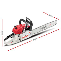 Giantz 58CC Commercial Petrol Chainsaw - Red & White