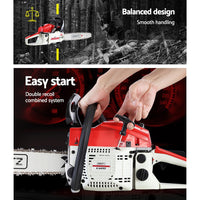 GIANTZ 45CC Petrol Commercial Chainsaw Chain Saw Bar E-Start Pruning
