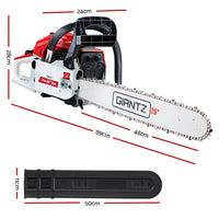 GIANTZ 52CC Petrol Commercial Chainsaw Chain Saw Bar E-Start Pruning