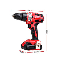 GIANTZ Hammer Drill Electric 20V Lithium Impact Cordless Brushless Drill