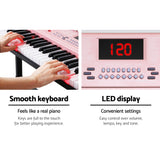 Alpha 61 Key Lighted Electronic Piano Keyboard LED Electric Holder Music Stand