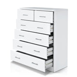 Artiss Tallboy Dresser Table 6 Chest of Drawers Cabinet Bedroom Storage White