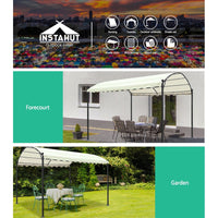 Instahut Gazebo 4x3m Party Marquee Outdoor Wedding Tent Iron Art Canopy