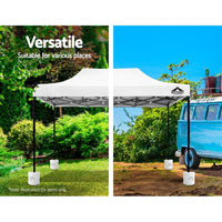 Instahut Gazebo Pop Up Marquee Outdoor Base Pod Kit Wedding Tent Canopy Leg