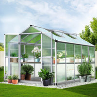 Greenfingers Greenhouse Aluminium Green House Garden Shed Greenhouses 3.08x2.5M