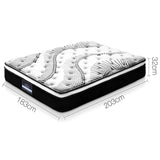 Giselle Bedding Como Euro Top Pocket Spring Mattress 32cm Thick – King