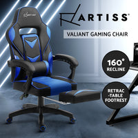 Artiss Office Chair Computer Desk Gaming Chair Study Home Work Recliner Black Blue