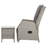 Gardeon Recliner Chairs Outdoor Sun lounge Setting Patio Furniture Wicker Sofa