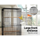i.Pet Medium Bird Cage with Perch - Black