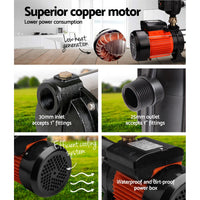Giantz Water Pump High Pressure Multi Stage Farm Rain Tank Irrigation Garden