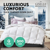 Giselle Bedding Queen Size Duck Down Quilt