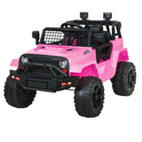 Rigo Kids Ride On Car Electric 12V Car Toys Jeep Battery Remote Control Pink