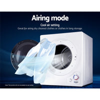 Devanti 4kg Tumble Dryer Machine Air Vented Front Load Wall Mount