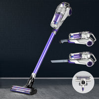 Devanti Cordless Handstick Vacuum Cleaner - Grey and Purple
