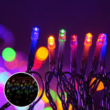 Jingle Jollys 800 LED Christmas Icicle Lights Mutlicolour