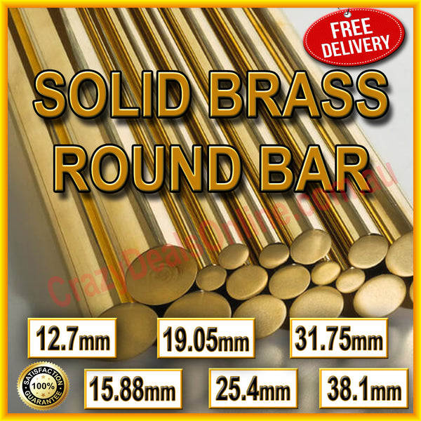 MACHINE GRADE SOLID ROUND BRASS ROD BAR *VARIOUS SIZES* Lathe CNC Hobbyists
