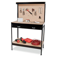 2 LAYERED WORK BENCH GARAGE STORAGE TABLE TOOL SHOP SHELF