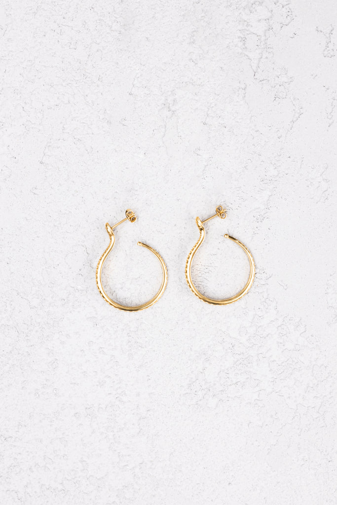 Sarpe Hoop Earrings Gold