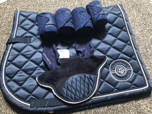 Load image into Gallery viewer, HKM Elemento saddle pad - deep blue