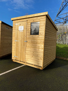 Ex Display Barrow Pent Shed (21mm Log Lap)