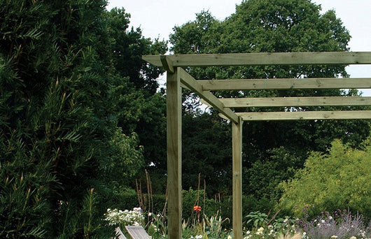 Smooth Slotted Pergola Posts
