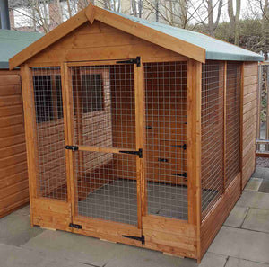 'Welland' (Large apex kennel & run) - Treated