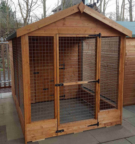 'Welland' (Large apex kennel & run) - Treated - Greenview Sheds & Fences Ltd