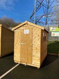 Ex Display Wisewell Apex Shed (21mm Log Lap)