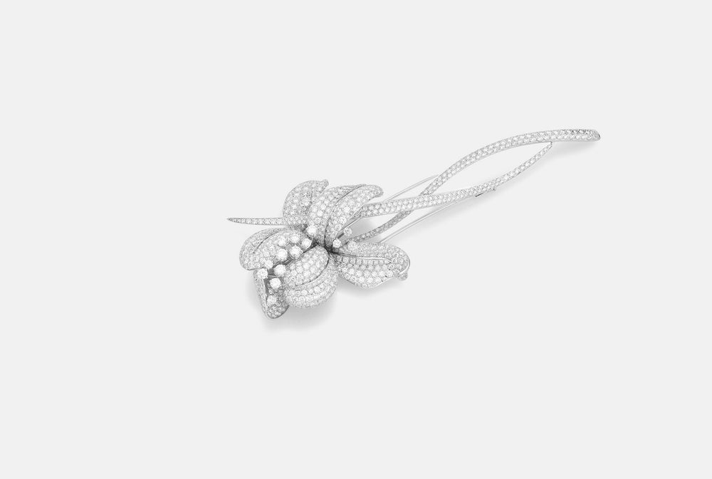 Diamond lily brooch from NOA's High Jewellery