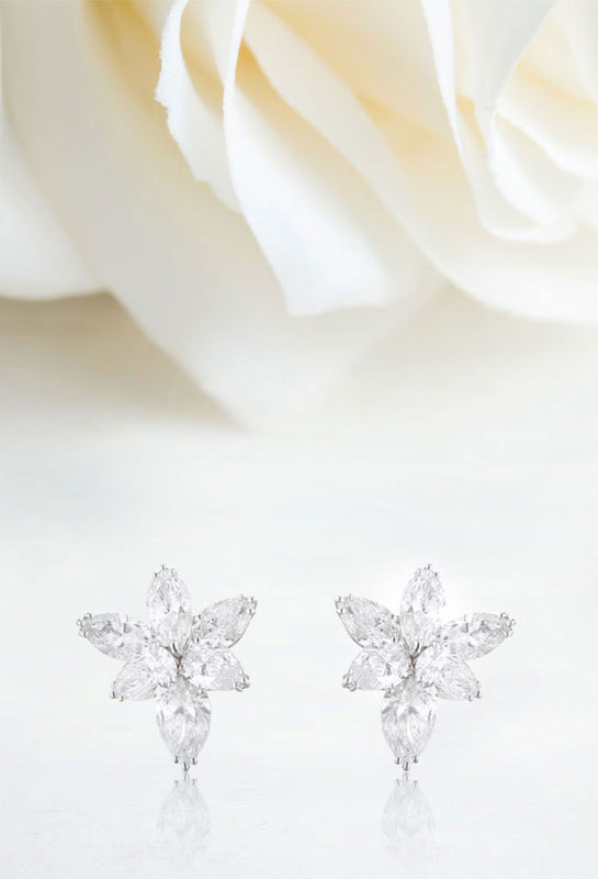 NOA's bespoke bridal diamond earrings